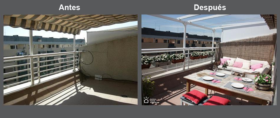Vestir tu terraza para el verano, hace más fácil imaginarse disfrutando del verano en ella.
