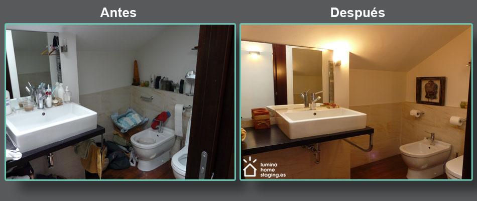 Aunque en la vida diaria tu baño se presente de esta forma, durante la época en venta, procure presentarlo como si fuera el baño de un hotel.